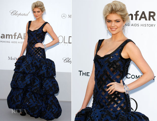 Kate Upton In Louis Vuitton - amfAR's Cinema Against Aids Gala 2012