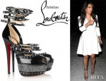 Kim Kardashian's Christian Louboutin 20th Anniversary Isolde Patent Leather Sandals