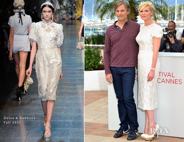 Kirsten Dunst In Dolce & Gabbana - 'On The Road' Cannes Film Festival Photocall