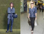 Kirsten Dunst In Louis Vuitton - Heathrow Airport