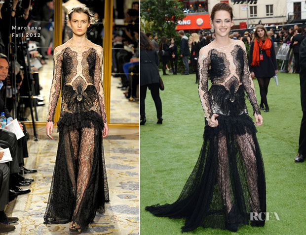 Kristen Stewart In Marchesa - 'Snow White And The Huntsman' London Premiere