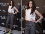 Kristen Stewart In Marios Schwab & Vivienne Westwood - 'Snow White And The Huntsman' Photocall