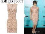 Lea Michele's Emilio Pucci Lace Dress