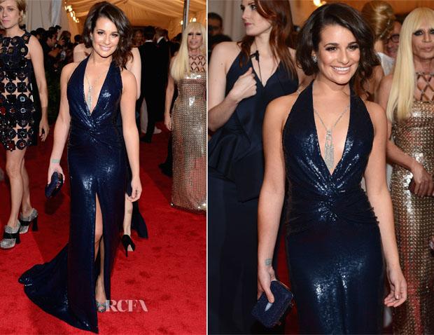 Lea Michele In DVF - Met Gala