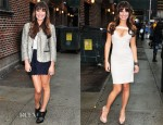 Lea Michele In Zadig & Voltaire, Jenni Kayne & Amen - Late Show with David Letterman