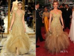 Leighton Meester In Marchesa - 2012 Met Gala