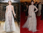 Lily Collins In Valentino Couture - 2012 Met Gala