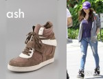 Megan Fox's Ash Cool Suede Lace Up Wedge Sneakers