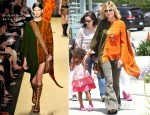 Heidi Klum In Michael Kors - Taking Kids To Karate Class