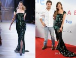 Michelle Jenner In Georges Chakra Couture - 'Isabel' Madrid Premiere