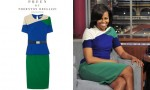 Michelle Obama's Preen Ren Belted Stretch-Crepe Dress