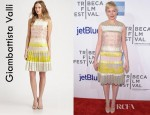 Michelle Williams' Giambattista Valli Patchwork Dress