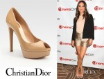 Mila Kunis' 3.1 Phillip Lim Garconnet Blazer And Christian Dior Miss Dior Patent Leather Peep Toe Pumps