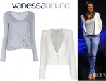 Mila Kunis' Vanessa Bruno Blazer And Vanessa Bruno Gathering Detail Top