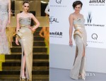 Milla Jovovich in Atelier Versace - 2012 amfAR's Cinema Against AIDS Gala