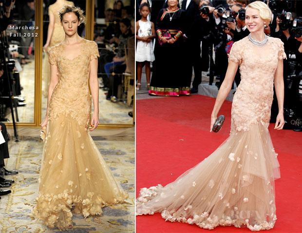 Naomi Watts In Marchesa - 'Madagascar 3′ Cannes Film Festival Premiere