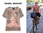 Naomi Watts' Isabel Marant Voice Printed Silk Georgette Top
