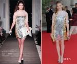 Natalie Dormer In Nicholas Oakwell - 'Ballgowns: British Glamour Since 1950' Private View