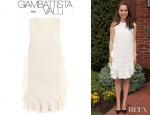 Natalie Portman's Giambattista Valli Ruffle Front And Back Frame Dress
