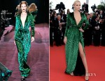 Natasha Poly In Gucci - 'Once Upon A Time In America' - Gucci Film Foundation Cannes Film Festival Premiere
