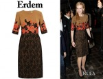 Nicole Kidman's Erdem Ivy Embroidered Dress