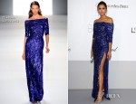 Nina Dobrev In Elie Saab - amfAR's Cinema Against Aids Gala 2012
