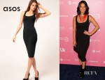 Olivia Munn's ASOS Midi Tank Body Conscious Dress