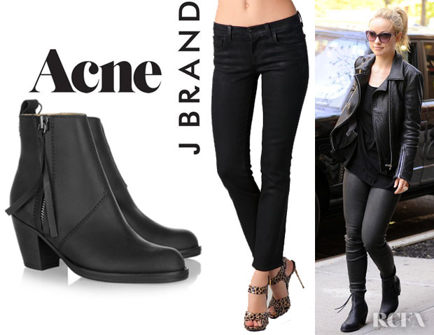 Acne Pistol Leather Ankle Boots hbtgw2q