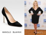 Reese Witherspoon's Manolo Blahnik BB Suede Point Toe Pumps