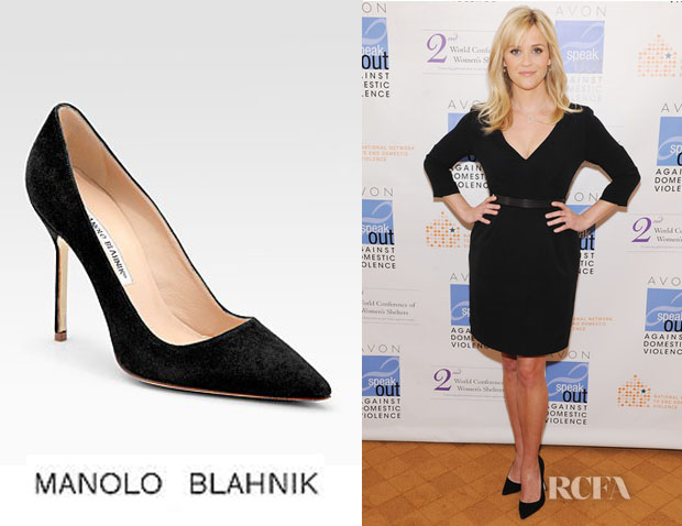 7ee2e9c66bc4f ... promo code for who reese witherspoon wearing manolo blahnik bb suede  point toe pumps d322d e2517