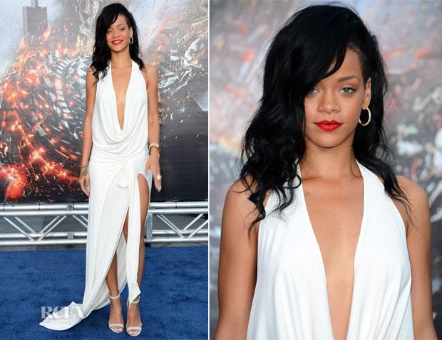 Rihanna In Adam Selman - 'Battleship' LA Premiere