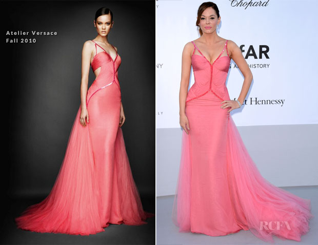 Rose McGowan In Atelier Versace - amfAR's Cinema Against Aids Gala