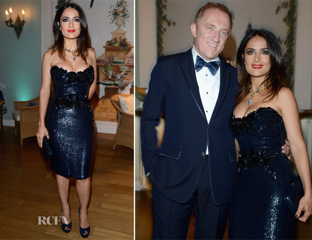 Salma Hayek In Gucci - Gucci Vanity Fair Dinner Party