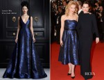 Sarah Gadon In Jason Wu & Emily Hampshire In Stella McCartney  - 'Cosmopolis' Cannes Film Festival Premiere