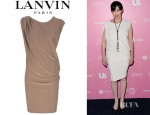 Shannen Doherty's Lanvin Draped Dress