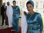 Sheikha Mozah Bint Nasser Al Missned In Ralph & Russo - Diamond Jubilee Luncheon