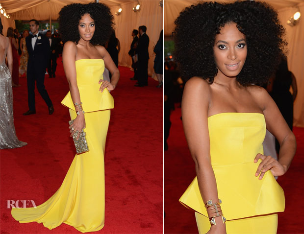 Solange Knowles In Rachel Roy - 2012 Met Gala