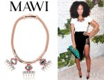 Solange Knowles' Mawi Pyramid And Gemstone Necklace