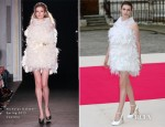Tali Lennox In Nicholas Oakwell Couture - Royal Academy Summer Exhibition 2012