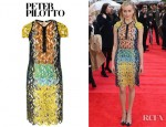 Taylor Schilling's Peter Pilotto Cut Out Lace Effect Silk Organza Dress