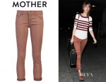 Taylor Swift's Mother Denim Looker Crop Jeans