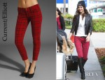 Victoria Justice's Current/Elliott Stiletto Jeans And Cynthia Vincent Lynch Knee High Boots