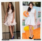 Who Wore Cynthia Rowley Better? Emmy Rossum or Ariel Winter