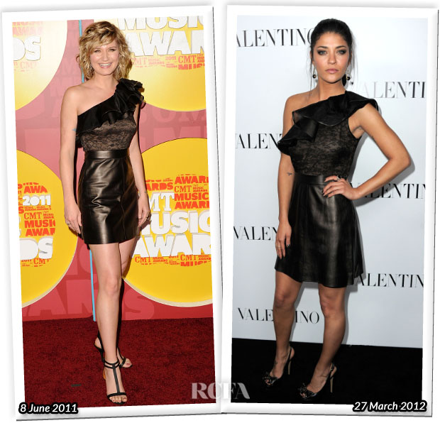 Who Wore Valentino Better Jennifer Nettles or Jessica Szohr
