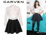 Zooey Deschanel's Carven Cut Out Cotton Silk Dress