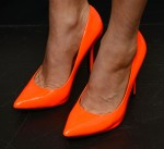 Fergie's orange pumps