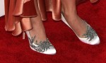 Katy Perry in vintage Nolan Miller &  Manolo Blahnik 'Swan' crystal embellished pumps