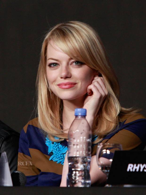Emma Stone in Burberry Prorsum
