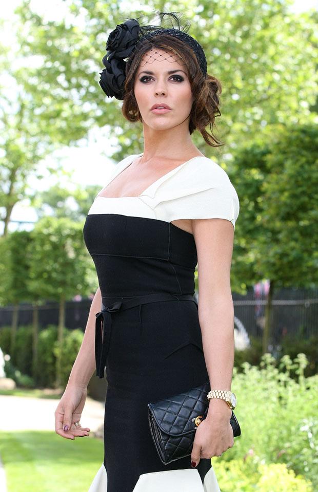 Danielle Lineker in Roland Mouret