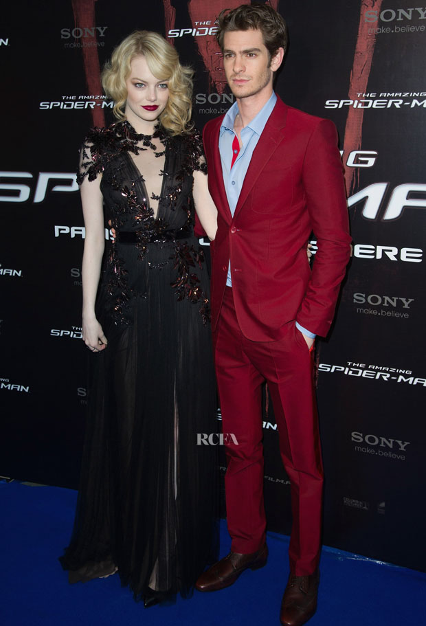 Emma Stone in Gucci and Andrew Garfield in Balenciaga